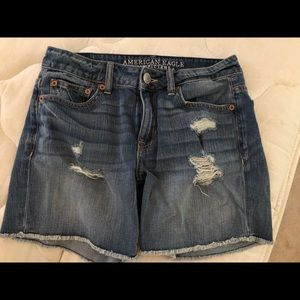 American Eagle Outfitters Distressed Denim Shorts.